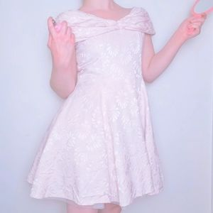 Vintage Princess Tea Floral Pink Cocktail Dress